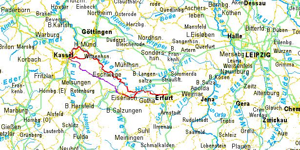 radweit: Hannover – Halle – Leipzig per Fahrrad, Übersicht